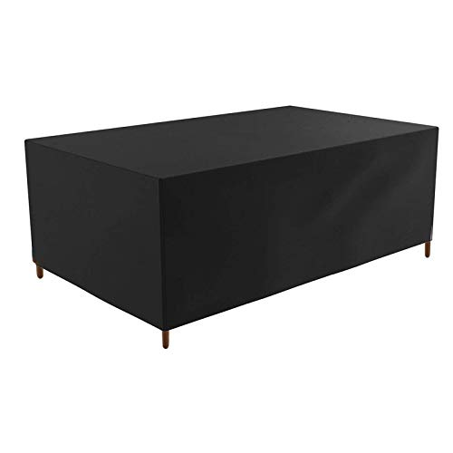 FOGUO Patio Furniture Covers Waterproof, Garden Furniture Covers Rectangular, Furniture Covers for Outdoor Seating, Windproof & Anti-UV Outdoor Furniture Cover