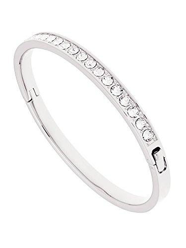 Ted Baker Clemara Swarovski Crystal Bangle, Silver/Clear Crystal