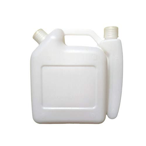 Yardwe 1.5L 2-Takt-Kraftstoffmischflasche Kraftstoff-Mischflasche für Trimmer-Kettensägenöl (weiß)