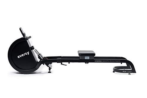 Máquina Remo Indoor EVERGY Rower H1 RSR - Resistencia magnética de 16 Niveles - Volante de inercia de 2,5 kg - Asiento Acolchado sobre Dos raíles - Plegable - Ruedas - Consola LCD