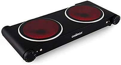 CUSIMAX 1800W Ceramic Hot Plate, Portable Infrared Burner