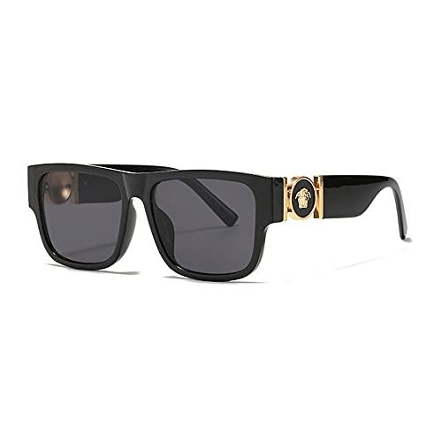 Yetier Gafas de Sol, Gafas de Sol con Personalidad Masculina y Femenina, Gafas de Sol pequeñas rectangulares con Metal