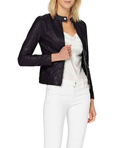 JdY Damen Jdystormy Faux Leather Jacket Otw Noos Jacke, Schwarz, 34 EU