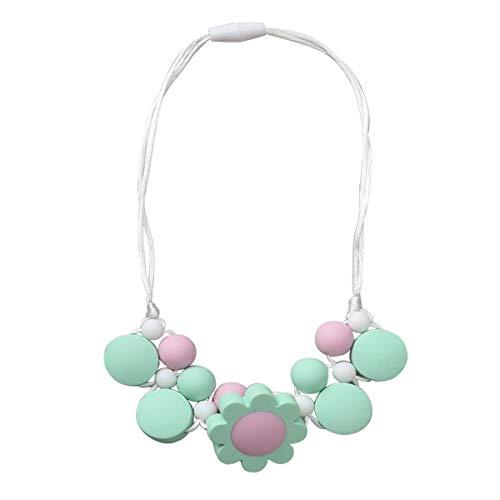 YeahiBaby Collier de Dentition en Silicone Perles Collier de Soins Infirmiers Perles bébé Anneau de Dentition pour Maman Wear Green