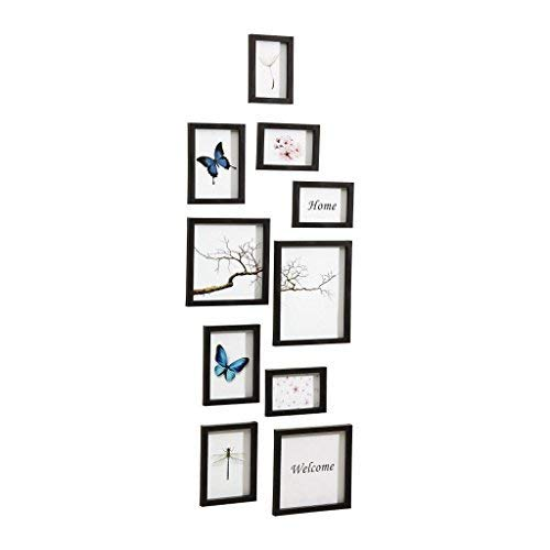 Nielsen Design Nielsen 10 Piece Frame Set Black Plastic Mobile Rack 8999176