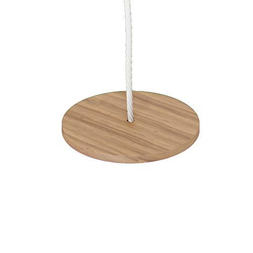 Tellerschaukel Holz Durchmesser 30 cm, Babyschaukel Outdoor Indoor Kinder Schaukel bis 60kg | 100% ECO | Made in EU