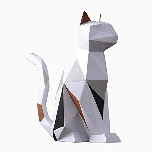 Adornos Estatuas Esculturas Esculturas Estatuas Adornos Estatuilla Figuras Coleccionables Resina Moderna Origami Conejo Estatuas De Gato Escultura De Arte Animales Artesanía Mueble De Televisión Ofi