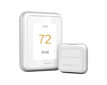 Honeywell Home RCHT9610WFSW2003 T9 WiFi Thermostat with 1 Smart Room Sensor Touchscreen Display Alexa and Google Assist White