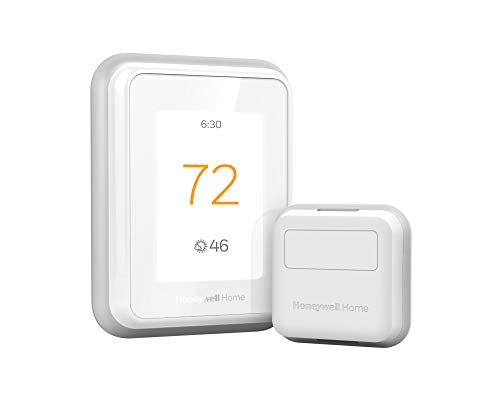 Honeywell Home RCHT9610WFSW2003 T9 WiFi Thermostat with 1 Smart Room Sensor, Touchscreen Display, Alexa and Google Assist, White