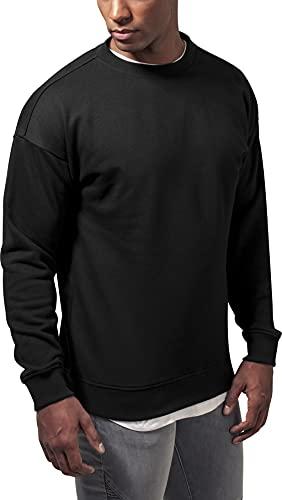 Urban Classics Herren Sweat Crewneck Pullover, black, 4XL