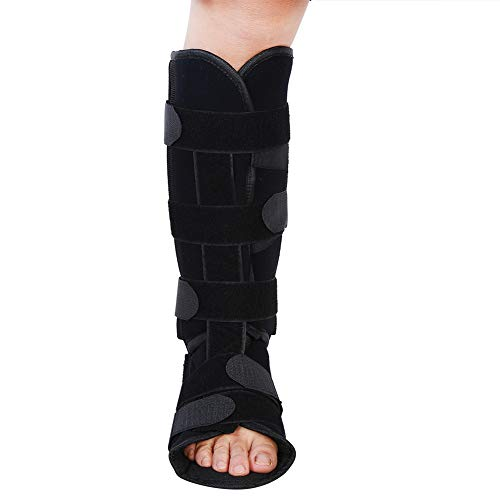Leg Ankle Brace Support Adjustable Ankle Brace with Compression Wrap for Sprained Foot Breathable Shank Gear Ankle Guards for Outdoor Sports(L)