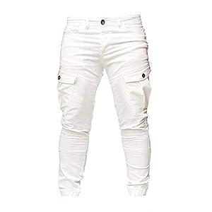 ZEZKT Pantalones de Trabajo Deportivos Casuales para Hombre Pantalones de chándal para Correr pantalón Largo Deporte al Aire Libre Fitness