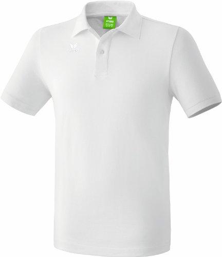 Erima Casual Basics Polo Mixte Enfant, Blanc, FR : XS-S (Taille Fabricant : 164 cm)