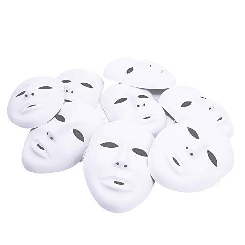 Weiße Maske, 12 Stücke Unbemalt Maskerade Weiß Maske DIY Dekoration Venezianischen Karneval Halloween Cosplay Kostüm Handgemalte Kreative Design Maske