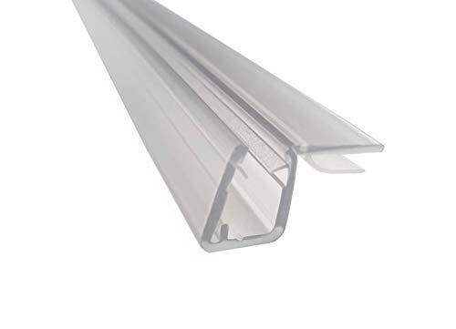 KRISTHAL Tür-Anschlagdichtung Glas-Glas 90°, Duschdichtung für 6 und 8 mm Glas, Dichtleiste Länge 200 cm, Duschtürdichtung Made In Germany, Art. Nr. 5050