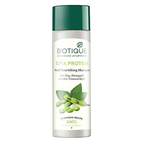 Biotique Shampooing équilibrant à la protéine de soja pour cheveux permanentés 120 ml