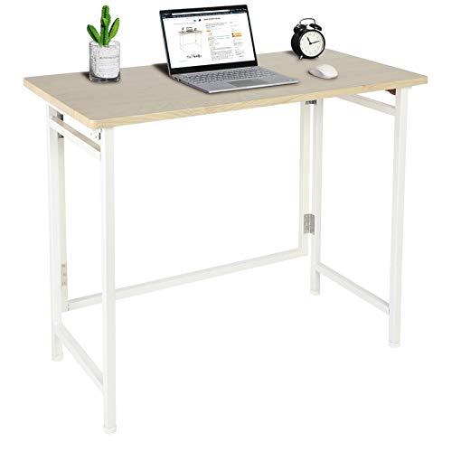 Cocoarm Mesa plegable para ordenador de acero y tablero de fibra de...