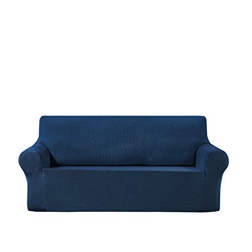 Waterproof Stretch Sofa Cover,1 2 3 4Seat Solid Color Sofa Cover, Universal Sofa Cover, Furniture Protection Cover(3 Seater,Classic Blue)