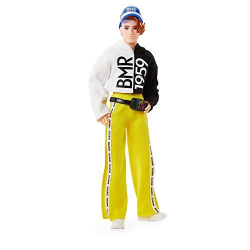 Barbie-BMR1959 Bambola Ken con Lentiggini e Vestiti Sportivi Giocattolo per Bambini 3+Anni, GNC49