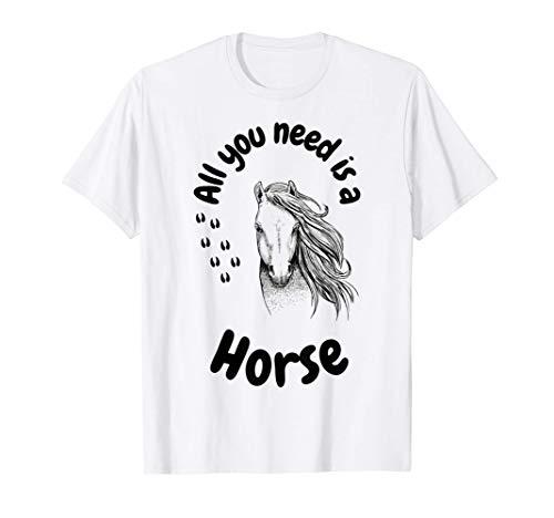Caballos: a las chicas les encanta montar a caballo, les Camiseta