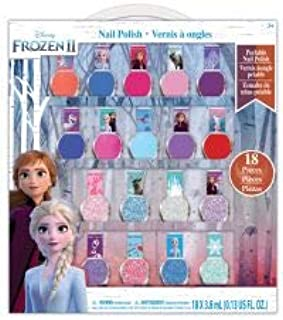 Townley Girl Disney Frozen 2 Non-Toxic Peel-Off Nail Polish Set for Girls, Glittery and Opaque Colors, Ages 3+ (18 Pack)