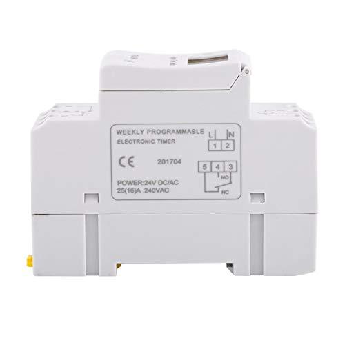 Interruptor de tiempo de relé electrónico digital THC15A 16on & 8off Temporizador programable semanal de 1 pieza para controlar las farolas de la calle(24V)