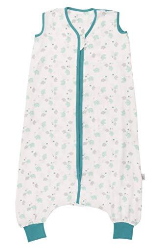Schlummersack Schlafsack mit Füßen aus Bambus-Musselin für den Sommer ungefüttert in 0.2 Tog Elefanten unisex - 100cm