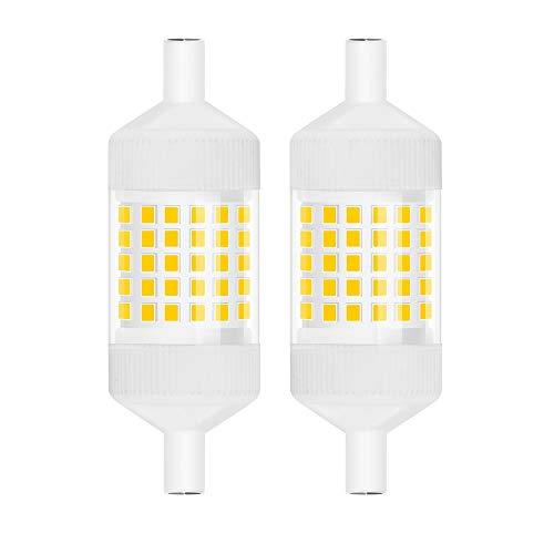 Luxvista 10W Dimmerabile Lampadina LED R7s 78MM, J78 T3 Equivalente a 100 W Lampadina Alogena, AC 220-240V con 1000lm (Luce Fredda 6000K, 2-Unità)
