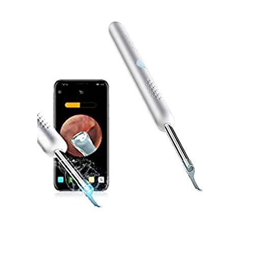 Endoscopio per la rimozione del cerume, strumento per la rimozione del cerume con fotocamera per l\'orecchio, endoscopio per l\'orecchio 1080PFHD, compatibile con iPhone, iPad, Android (grigio)