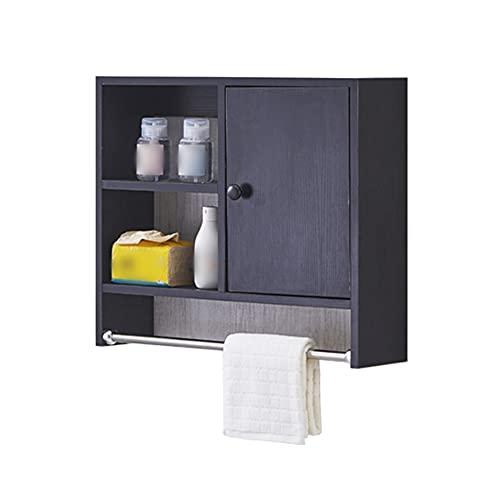 Gabinete de BañO, Gabinete de Almacenamiento de Oficina con Toallero, Montado en la Pared, Se Aplica a la Sala de Estar O la Cocina Del Dormitorio de Estudio/B / 50x60x15cm