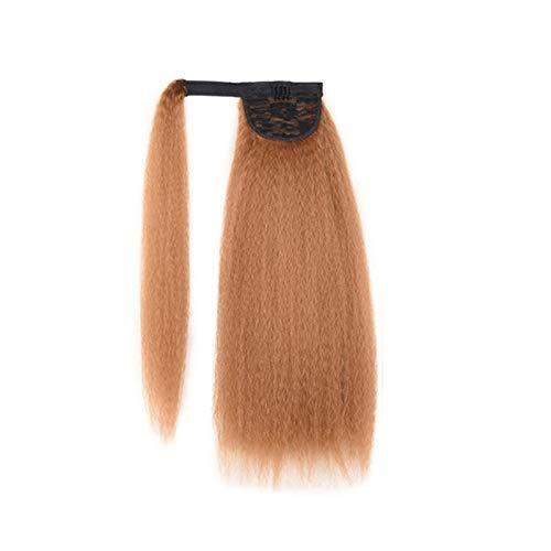 CJshop Peluca Mujer Pelucas de Fibra Pelo Largo Clip Rizado en Cola de Pelo Kinky Straight Ponytail Hairpiece para Mujer Synthetic Hair Pony Tail Hair Extension Peluca Sinttica