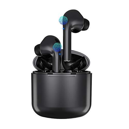 Auricolari Bluetooth 5.0 Senza Fili, ZBC Ear-In Cuffie con Custodia Di Ricarica Portatile, Cancellazione del rumore 3D, Ipx5 Impermeabile, Mic-Incorporato, Per Correre, Andare in Bicicletta