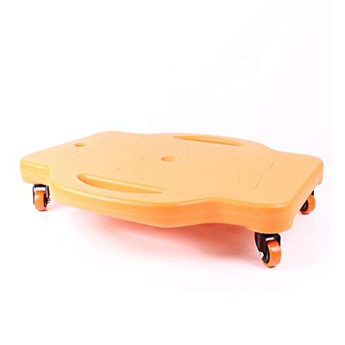 Xiao Jian Plataformas de equilibrio Equipo de entrenamiento sentido Vespa de Protección Ambiental de plástico en las cuatro ruedas de juguetes educativos Balance Board con la manija de seguridad 360 °