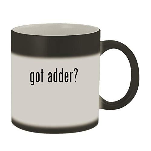 got adder? - Ceramic Matte Black Color Changing Mug, Matte Black