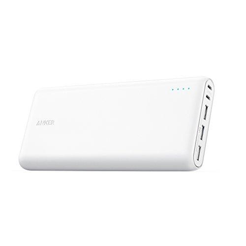 Anker PowerCore 26800 (26800mAh モバイルバッテリー) 【PSE技術基準適合/PowerIQ搭載/デュアル入力ポート / 3台同時充電】 iPhone/iPad/Android 他各種対応 (ホワイト)