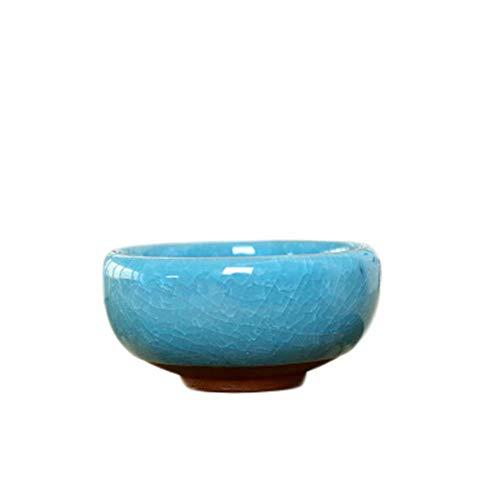 YUCHAO Keramik-Blumentopf, Sukkulenten Blumentopf, Desktop-Kleiner Topf Töpfe...
