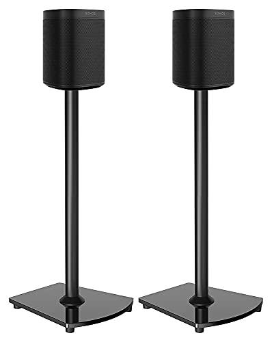 Soportes para altavoces diseñados para parlantes par de soportes1 reproducción: 3 Play:5 Soporte de altavoz de piso con gestión de cables (color negro)