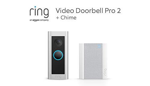 Te presentamos el Ring Video Doorbell Pro 2 con Chime de Amazon:...