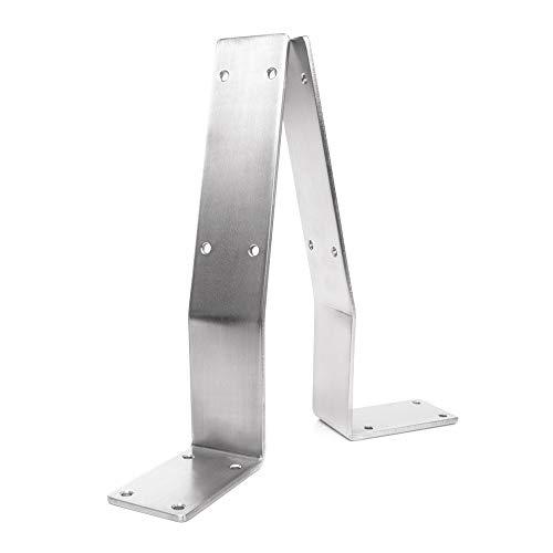 KTC Tec Rückenlehnenwinkel Edelstahl Rückenlehnenhalter Sitzbank Rückenlehne Bank Bankkufen Bett Rückenlehnenhalterung (1 Stück)