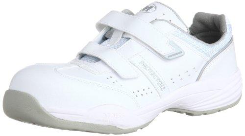[ミドリ安全] 安全作業靴 JSAA認定 マジックタイプ プロスニーカー プロテクトウズ5 PF115 メンズ ホワイト 23.5 cm