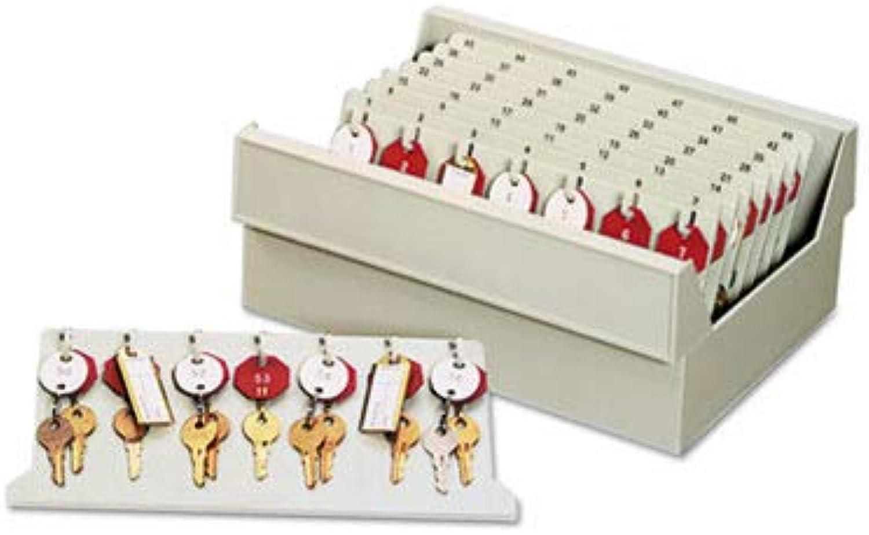 - in-Drawer Key Control, 112-Key, Molded Plastic, Putty, 12 x 9 7 8 x 4 3 4