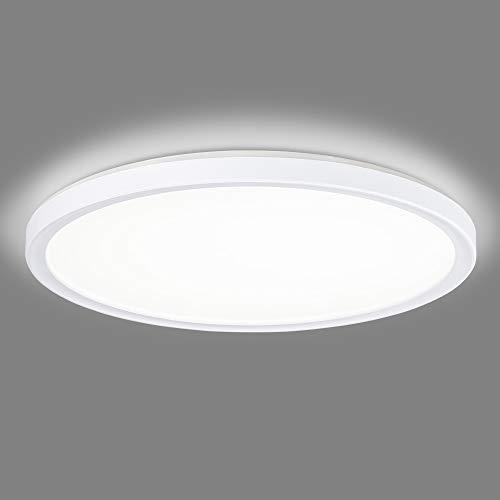 Navaris Lámpara LED de Techo - Iluminación Redonda de Ø 29.3 CM Moderna bajo Consumo 12 W Efecto de luz indirecta - Eficiencia energétia Clase A
