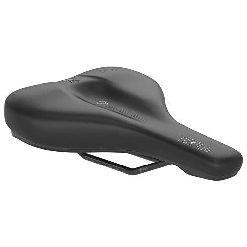 SQlab Unisex– Erwachsene 601 Ergolux Trekking Fahrradsattel, Schwarz, 16 cm