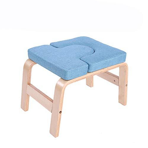 heresell Taburete de pie para yoga, de madera, estable, con alfombrilla de tela, para inversión de yoga, ayuda de entrenamiento, para cintura, piernas y caderas