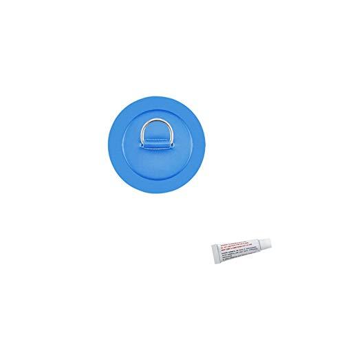 iSpchen Almohadilla de Anillo En d Con Parche de 4,3 Pulgadas y 11 Cm, Almohadilla/Parche de Anillo En D de Acero Inoxidable Con Pegamento Para Balsa de Barco Inflable de Pvc, Accesorios Marinos