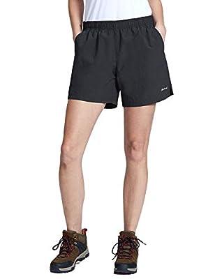BALEAF Women's Hiking Shorts Quick Dry Lightweight Zipper Pockets Black Size XL