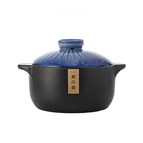 MUMUMI Ollas, Olla de Sopa Pote de Cocina Cerámica Caumica Uso Multiusos para la Cocina O Restaurante Del Hogar para la Sopa, Estofado, Salsa, Pasta,Azul,6L