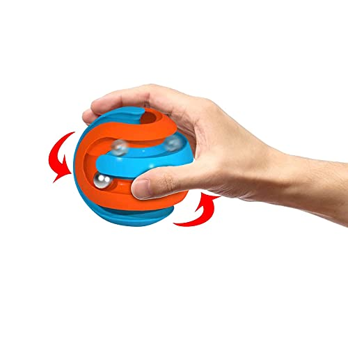 USLuxury Fidget Toys Orbit Ball - Stress Relief Toys Pinball Gyro Cube Fidget Cubes Tops Spinning Toys Maze_Track Ball Puzzle Games Gifts for Children Teens & Adults