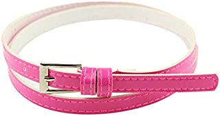 Delicate synthetic leather women's fashion belt - Multiple Colours Available - Length 98cm