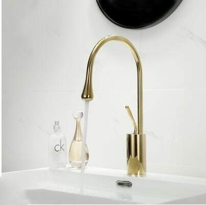 BDWS Nuevo grifo de palanca de agua monomando 360 caño de rotación grifo de latón moderno mezclador de lavabo mezclador fregadero agua blanco negrooro corto